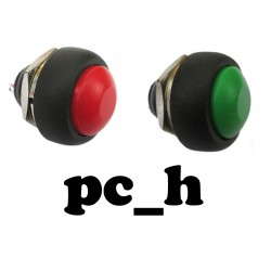 Tryckströmbrytare kit med grön och röd. 2 Strömbrytare