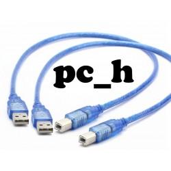 2 st USB Kabel Hane typ A till Hane typ B. Passar till Arduino Uno