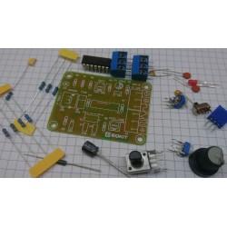 Funktionsgenerator i byggsats. 500-7.5 KHz. Fyrkant, sin och triangel-våg