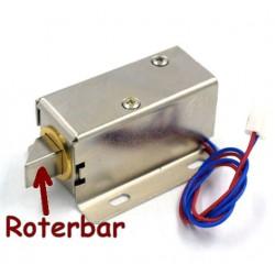 Solenoid lås 12 Volt, elektromagnet 7.5 Watt