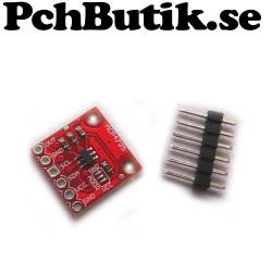 MCP4725 DAC D/A I2C till 12 bitars analog ut, passar Arduino