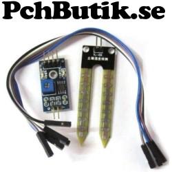 Aktiv sensor för jordfukt justerbar, passar Arduino mm.