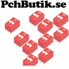 NYTT PÅ LAGER. 10-Pack, DIP Switch 2.54mm red slip type 2p